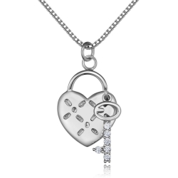 Монополия | Колье heart key necklace 26155